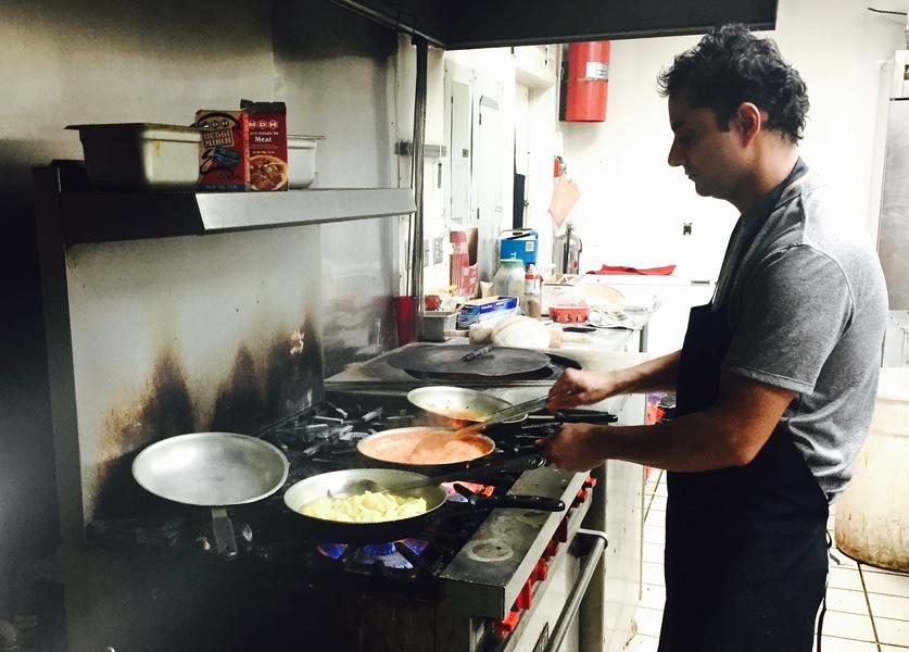 Head chef Bhuwan in action